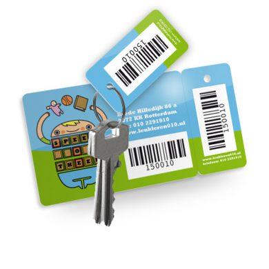 klantenkaart met sleutelhanger voorzien van barcode