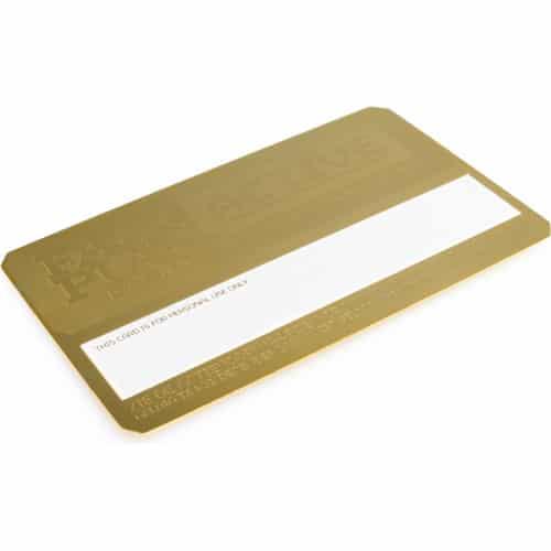 metalen visitekaartjes goud