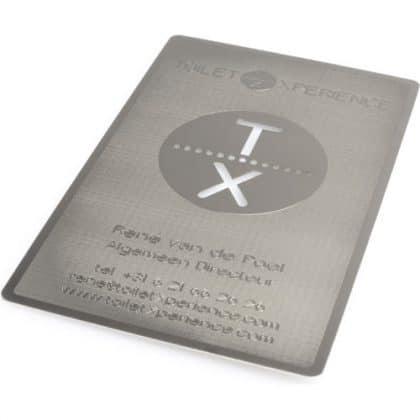metalen visitekaartjes zilver