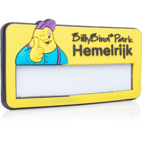rubber naambadge BillyBird Park Hemelrijk
