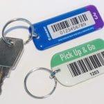 sleutelhanger met barcode
