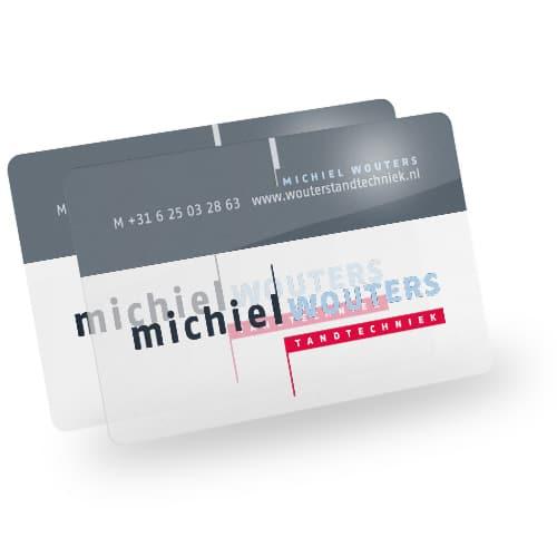 transparante visitekaartjes