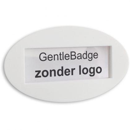 zachte rubber naambadge zonder logo