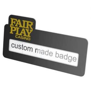 aluminium label badge