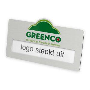 naambadge met logo