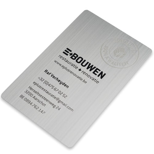 Metalen visitekaartjes