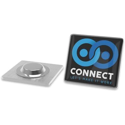 revers pin met magneet bevestiging - vierkant