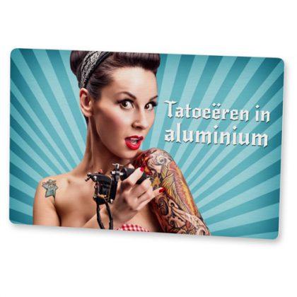 aluminium visitekaartjes