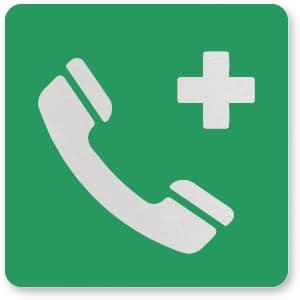 waarschuwingsbordje noodtelefoon