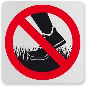 waarschuwingsbordje NIET OP HET GRAS LOPEN